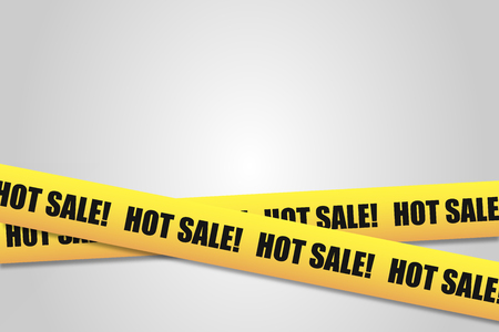 Police tape with an inscription Hot Sale, with space for text