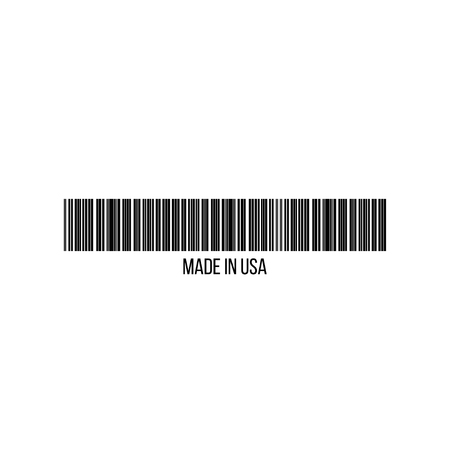 Realistic barcode icon made in USA. Barcode vector illustration