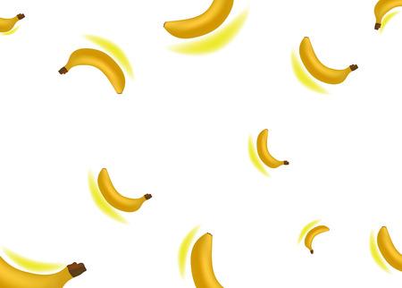Seamless background realistic bananas vector illustration 일러스트