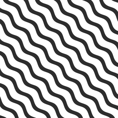 Diagonal lines pattern. Abstract pattern with lines. Waves outline icon, modern minimal flat design style Çizim