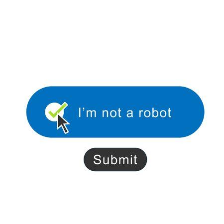 I am not a robot icon on white background Ilustração