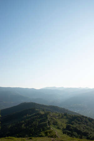 Beautiful summer mountains with blue sky