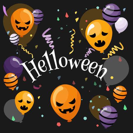 Halloween banner In Spooky Night - Happy Halloween vector. halloween pattern easy to color adjustment