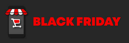 Online shopping. Buy items from your phone or any other device. Black Friday hot sale fluyer 矢量图像