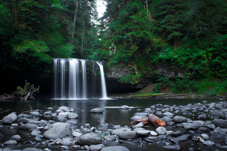marion: Upper Butte Creek Falls in Marion County Oregon