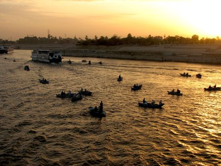 Sunset on Nile