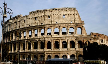Rome-historical roman monument coloseum Stock Photo