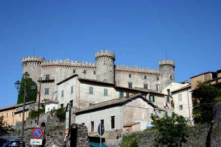 templars: A view of a castel in Bracciano, Italy Stock Photo