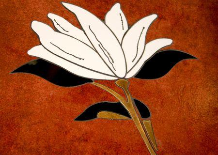 grinta: una bella pietra arenaria modello di un fiore Archivio Fotografico