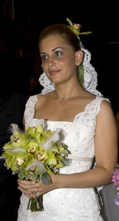 Bride smiling and posing before her wedding