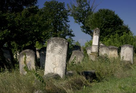old tombs from jewish cemetery from iasi, romania Stock Photo - 3774498