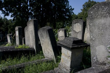 old tombs from jewish cemetery from iasi, romania Stock Photo - 3774499