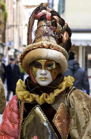mardigras: Woman in full decorative carnival costume in Venice.