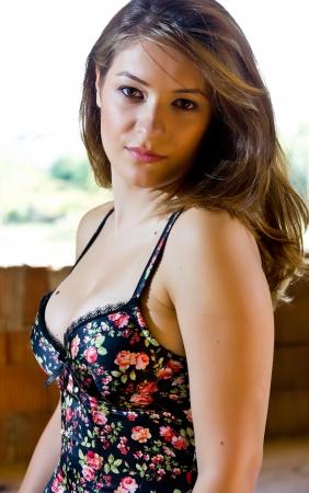 Portait of a beautiful woman photo
