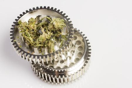 Detail of a marijuana grinder Stok Fotoğraf
