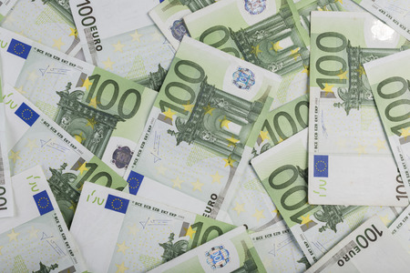 Background from a one hundred euro banknotes Stock Photo