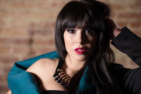 Fashion photosession with beautiful woman