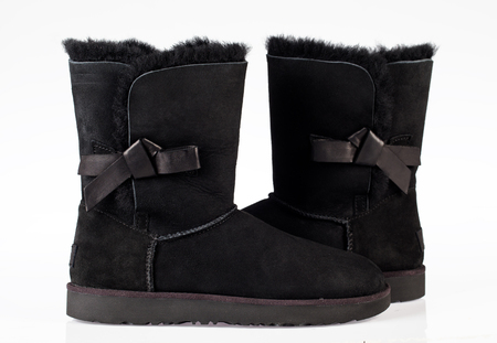 UGG Classic Knot black suede winter boots