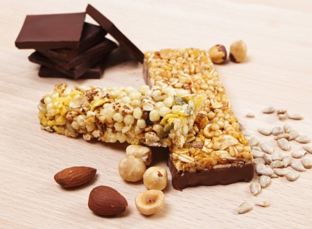 Granola Bars with Chocolate photo