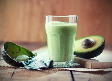 avocado: Avocado smoothie Stock Photo