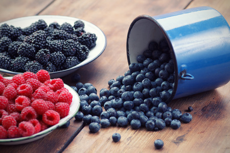 mixed fruits: Mixed berry fruits Stock Photo