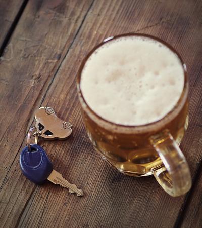 Drinken en rijden Stockfoto