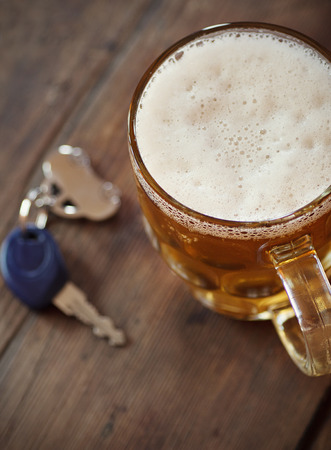 addiction drinking: Drinking and Driving Stock Photo