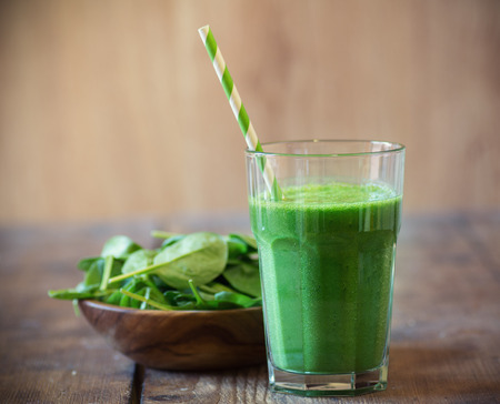 Spinach smoothie Stockfoto