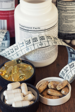 Los suplementos nutricionales en cápsulas y tabletas.