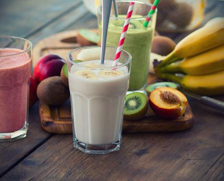 Fruit smoothies Stockfoto