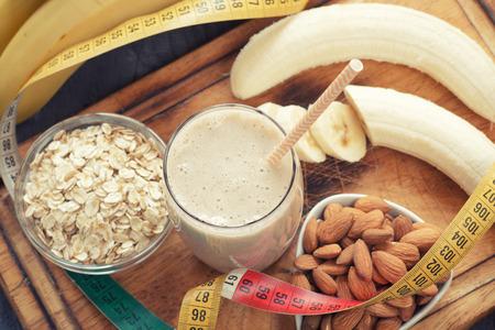 バナナのスムージー 写真素材