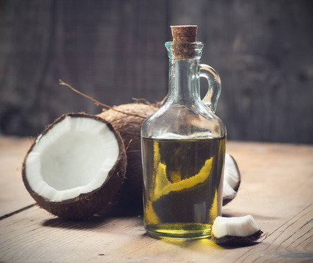 aromatherapy oils: Coconut oil Stock Photo