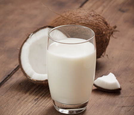 Coconut Milk Stock Photo