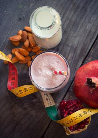 Pomegranate smoothie Stok Fotoğraf