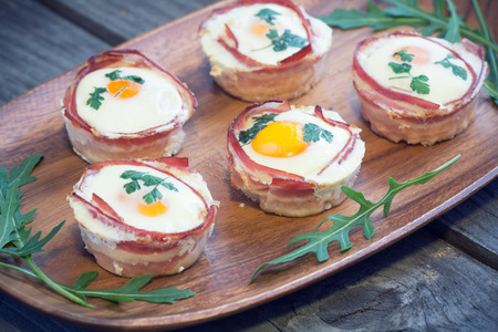 eggs and bacon: Egg muffins