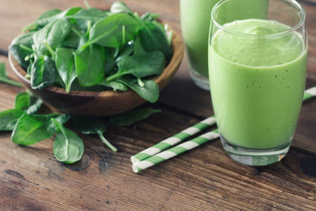 Spinach Smoothie, Made with Fresh Spinach and Non Dairy Milk.