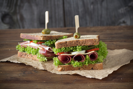 smoked: Sandwich with prosciutto