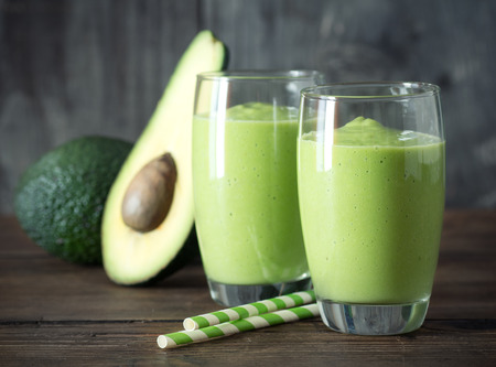 fruit shake: Avocado Smoothie, Made with Fresh Avocados and Non Dairy Milk.