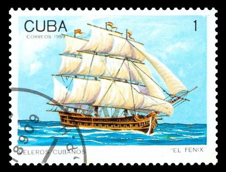 Cuba postage stamp Editorial
