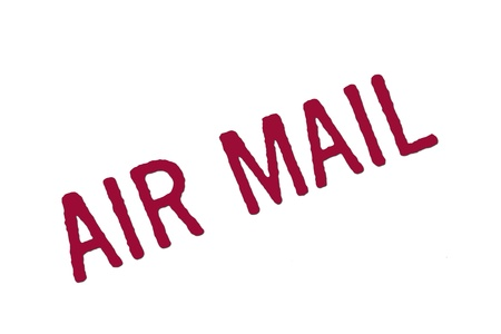 air mail stamp Stock Photo - 13459340