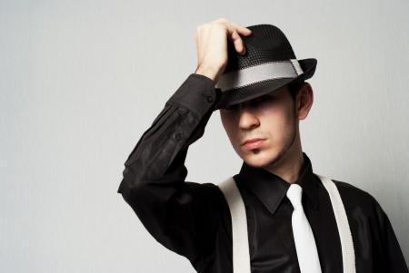 suspenders: man with suspenders