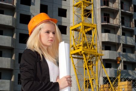 Arhitect woman Stock Photo