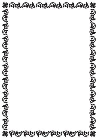 빈티지 패턴 스타일 페이지 테두리
