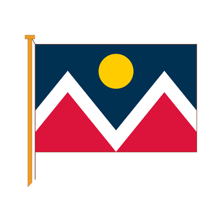 Vector excellent reproductions of the flag Denver city
