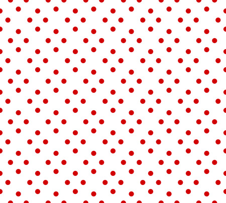 Vector Red and white classic polka dot pattern