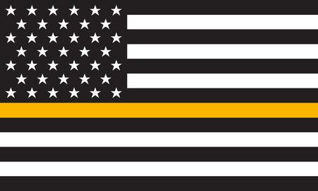 Vector Thin Gold Line Distress Flag