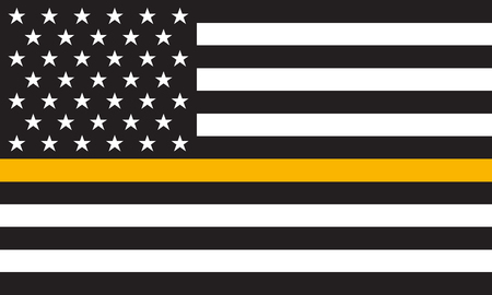 Vector Thin Gold Line Distress Flag