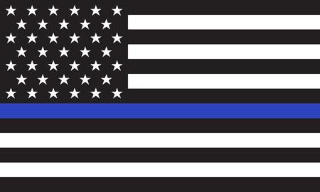 Flaga amerykańskiej policji wektor