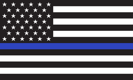 Vector American Police Flag