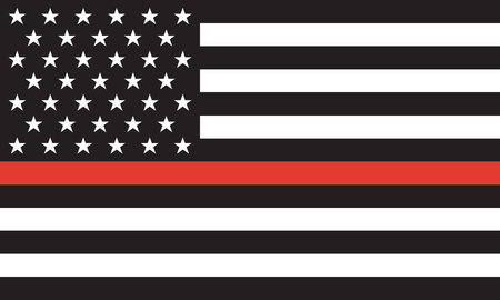 Thin Red Line Firefighter Flag Vector